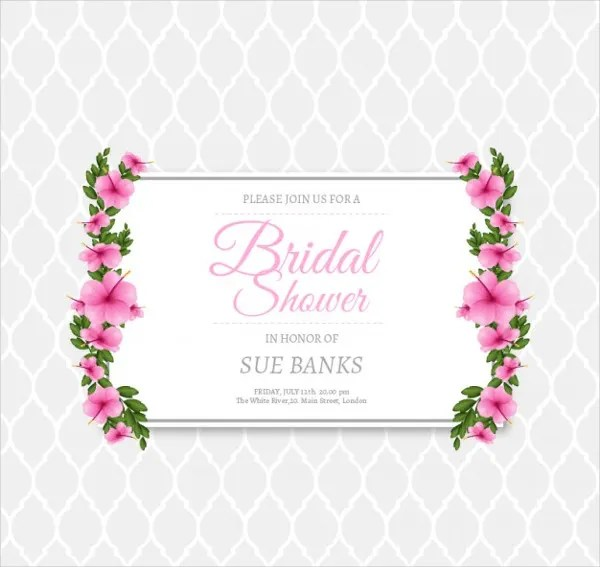 Free Shower Download Templates Bridal