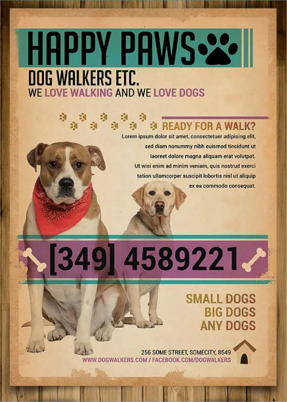 15+ Dog Walking Flyer Templates - PSD, Vector EPS, AI ...