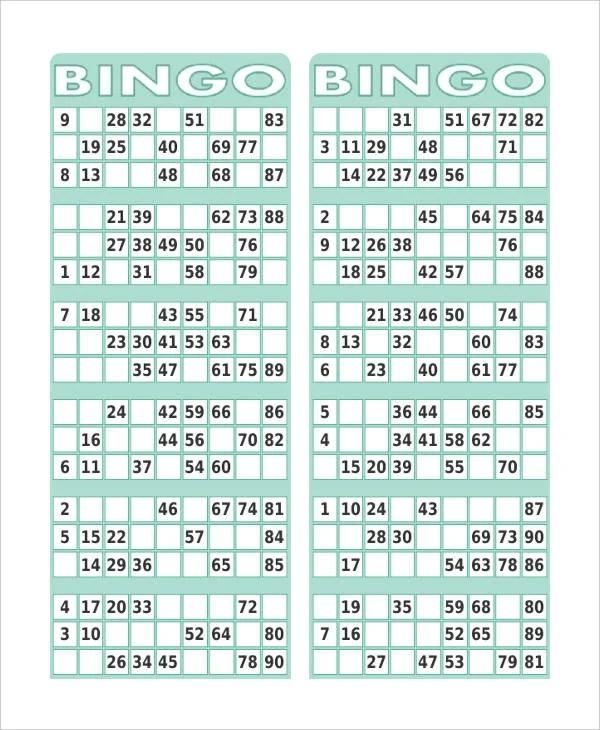 picture about Free Printable Bingo Cards 1 75 identify Printable 1 90 Range Bingo Card Generator