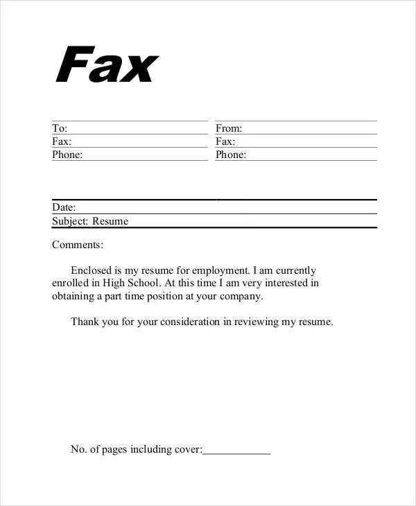 Fax Template 8 Free PDF Documents Download Free Amp Premium Templates