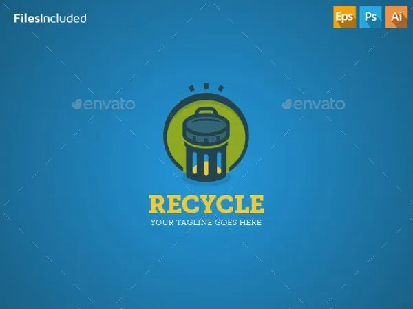 9 Recycling Logos Free PSD EPS Vector AI JPEG