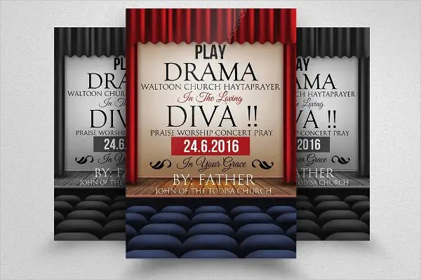 12 Theater Flyer Templates PSD Word EPS Vector Formart Free Premium Templates
