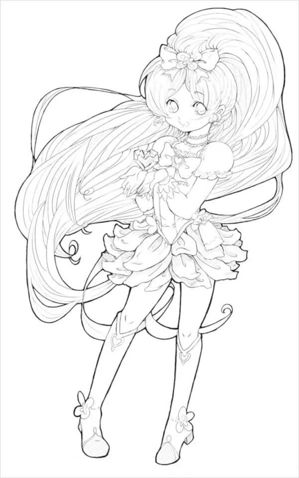 7 Anime Coloring Pages Pdf Jpg Free Premium Templates