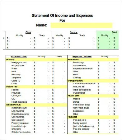 Excel Expense Templates 12 Free Excel Documents Download