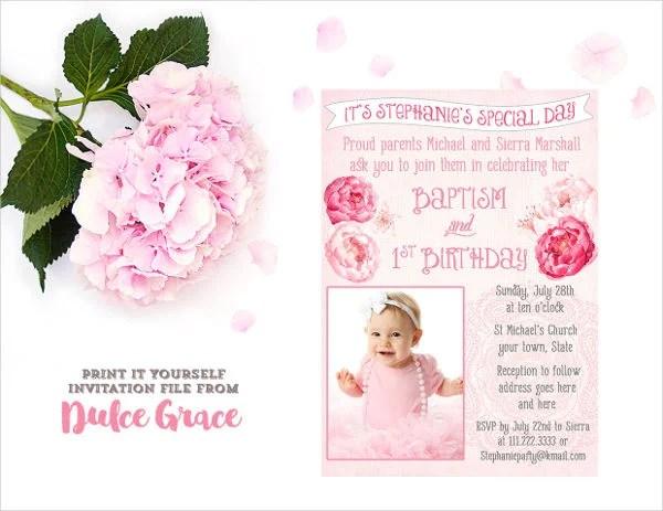 baptism invitation templates 9 free