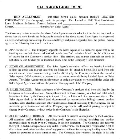 18 Printable Agent Agreement Templates Word PDF Pages Free Premium Templates