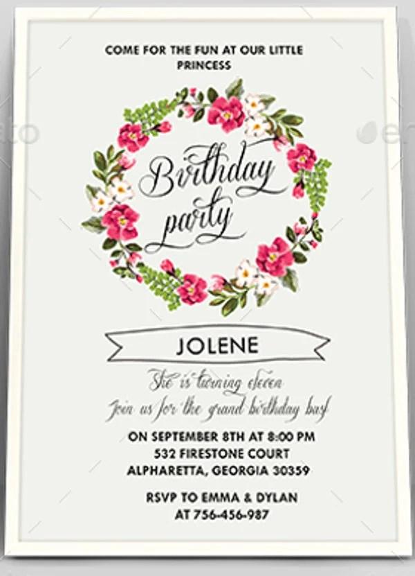 6 floral invitation templates free