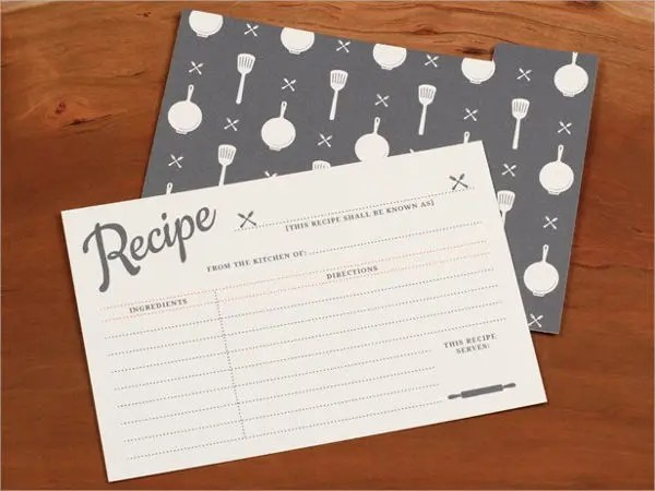 10 Recipe Card Templates PSD AI Vector EPS Publisher