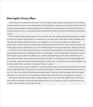descriptive essay 6 free samples examples format. Resume Example. Resume CV Cover Letter