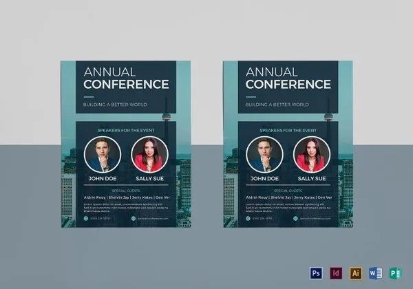 26 Best Conference Flyer Designs PSD AI Vector EPS Free Premium Templates