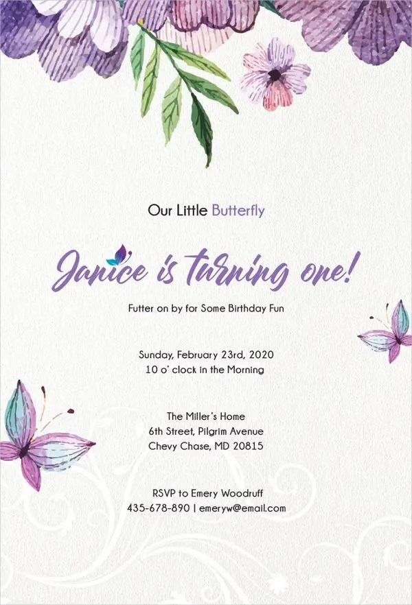butterfly invitation templates 10