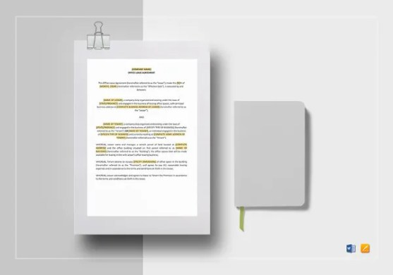Tenancy Agreement Template   16  Free Word  PDF Documents Download     Office Lease Agreement Template to Edit