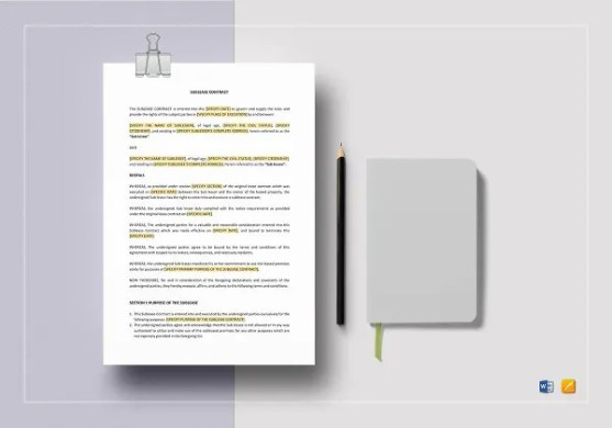 Sublease Contract Template   9  Free Word  PDF Documents Download     Sublease Contract Template