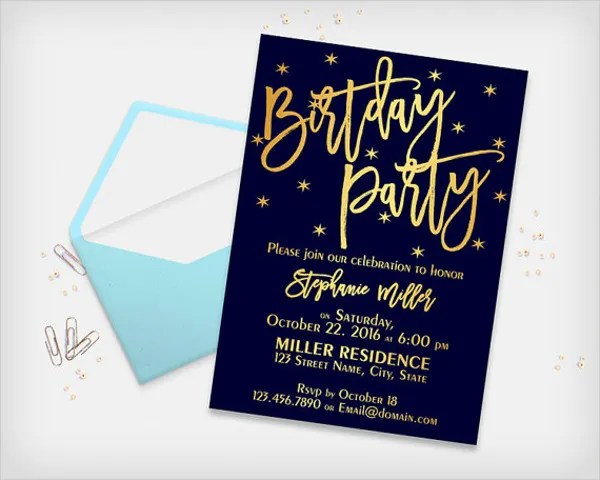 41 birthday invitation designs psd