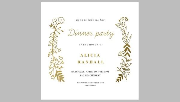 printable dinner invitation templates