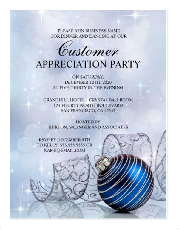 8 Appreciation Dinner Invitations Word Psd Ai