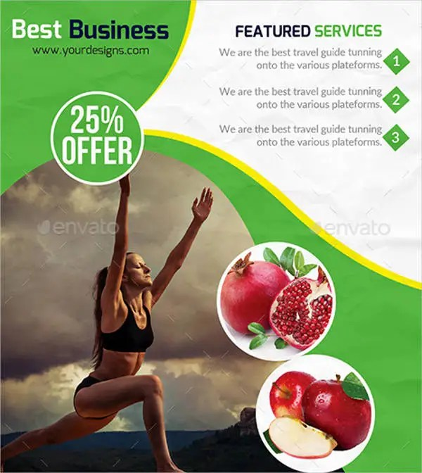 7 Health And Fitness Flyers PSD EPS Vector PDF InDesign File Formats Free Amp Premium