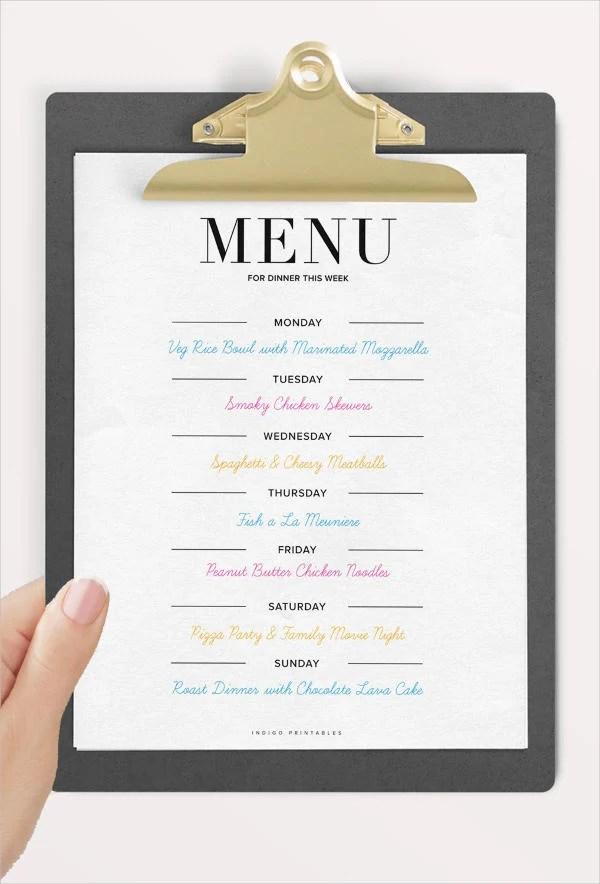8 Dinner Party Menu Templates Psd Ai Free Premium