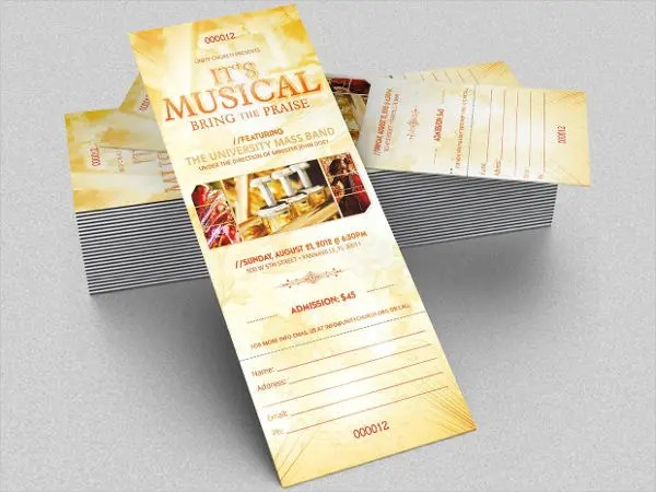 29 Concert Ticket Templates PSD Vector EPS Free Amp Premium Templates