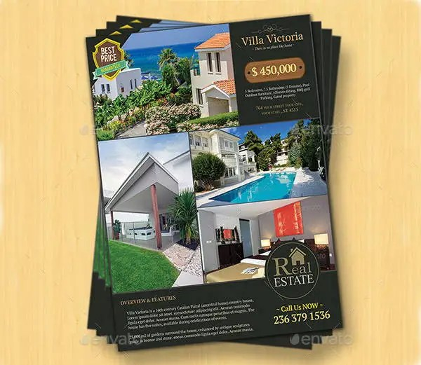 12 Real Estate Sale Flyers Word PSD AI Vector EPS Free Premium Templates