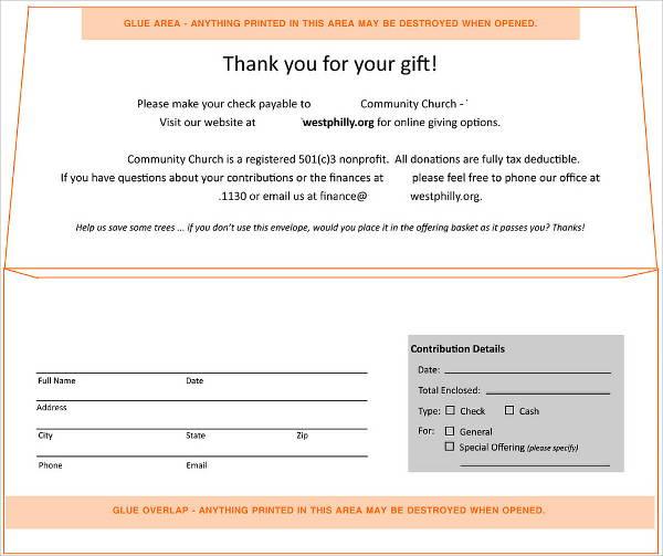 5 Donation Envelope Templates Psd Free Premium Templates
