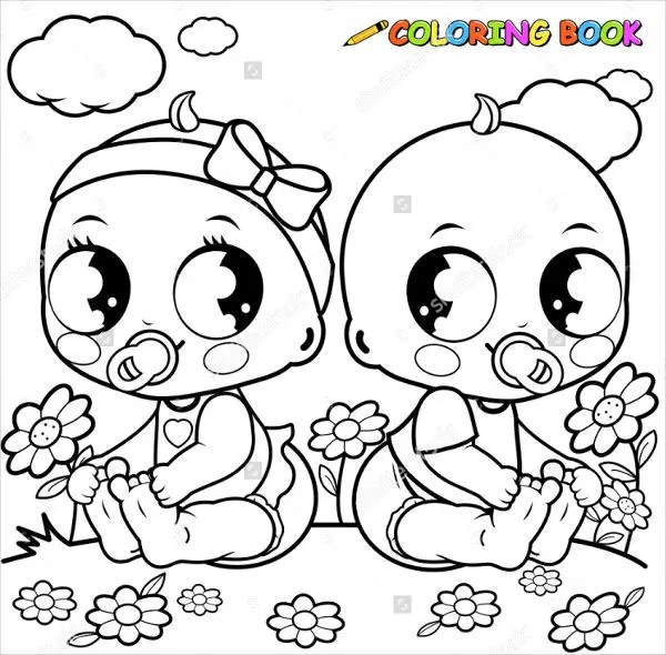 coloring pages of babies # 6
