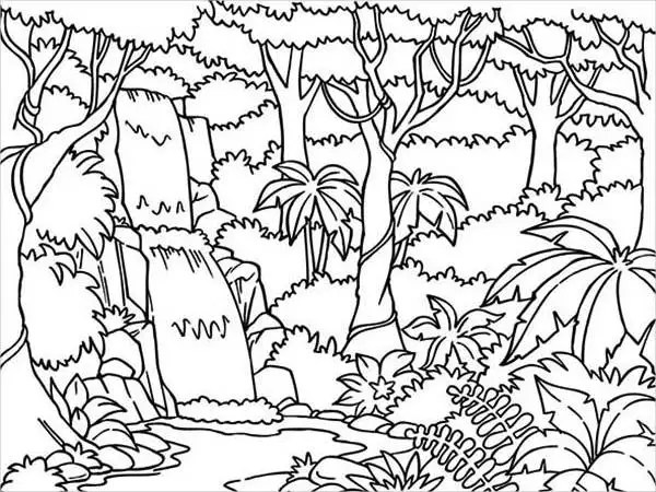 jungle coloring page # 6