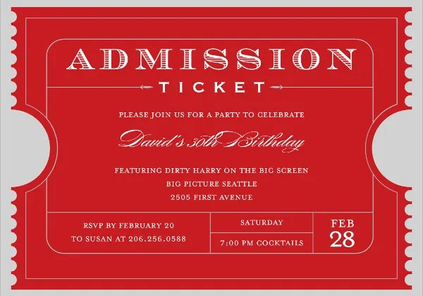 8 Ticket Layout Templates Free Psd Eps Format Download