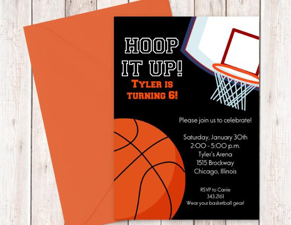 Basketball Birthday Card Templates