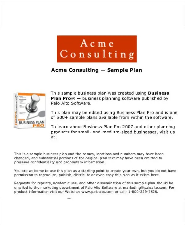 18 Consulting Business Plan Templates Free Word PDF Format Download Free Amp Premium Templates