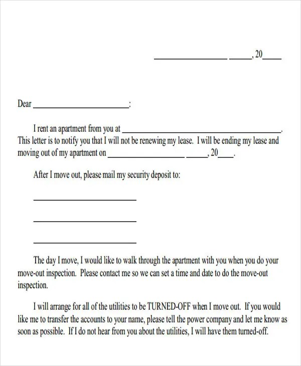 Landlord Letter Templates 10 Free