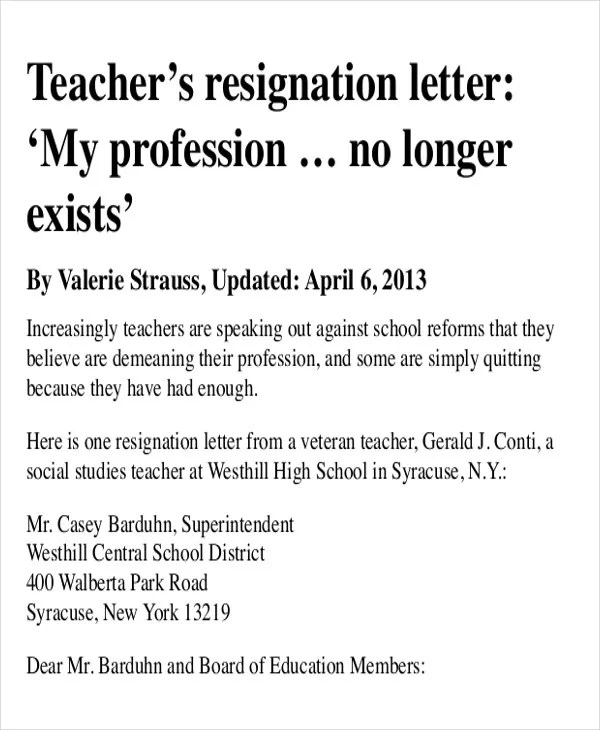 Sample resignation letter for teacher with reasongresize600730ssl1 42 sample resignation letter template free premium templates thecheapjerseys Gallery