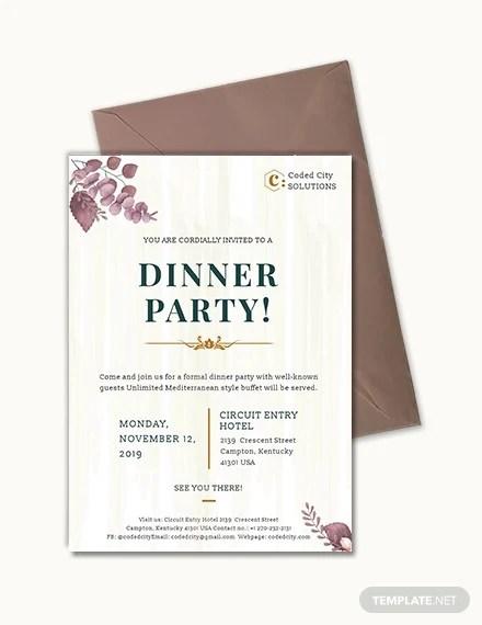 28 Formal Dinner Invitations Psd