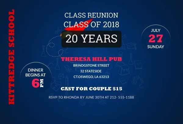 15 Reunion Invitation Templates Psd Ai Free Premium