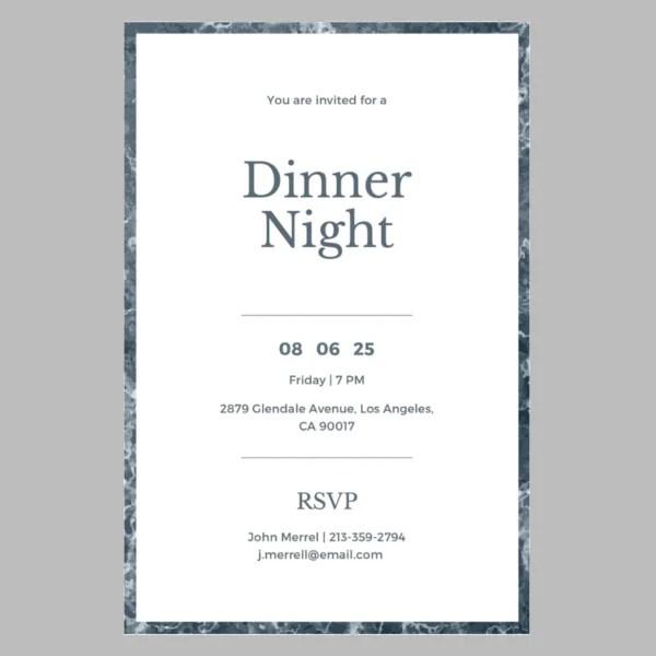 7 birthday dinner invitation design