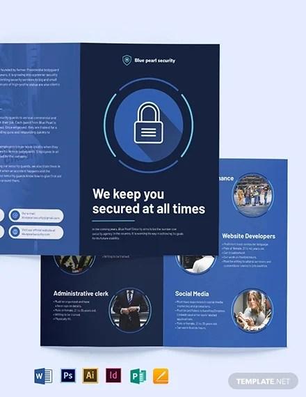 14 Security Brochures Editable Psd Ai Vector Eps Format