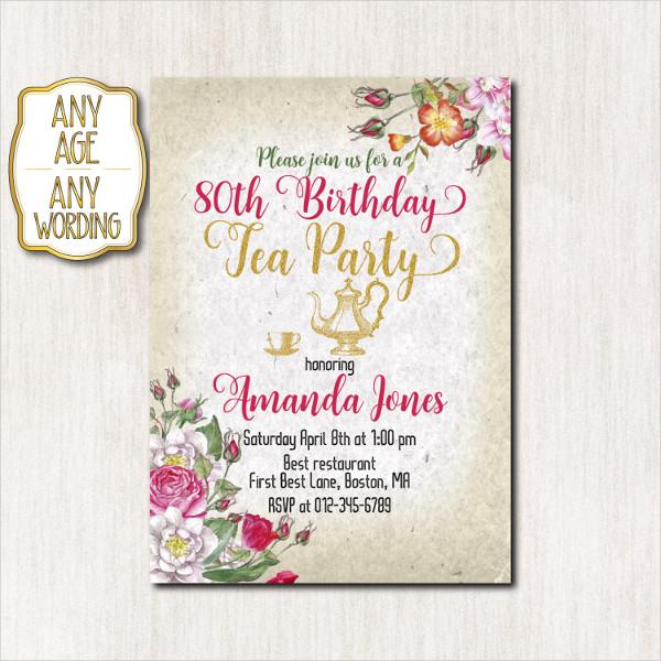 examples of birthday invitation designs