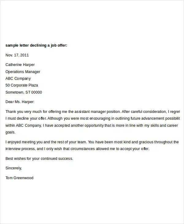 Offer Letter Templates In Doc 46 Free Word Pdf Documents