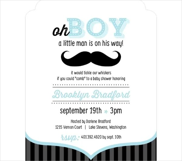 63 Unique Baby Shower Invitations Word Psd Ai Free
