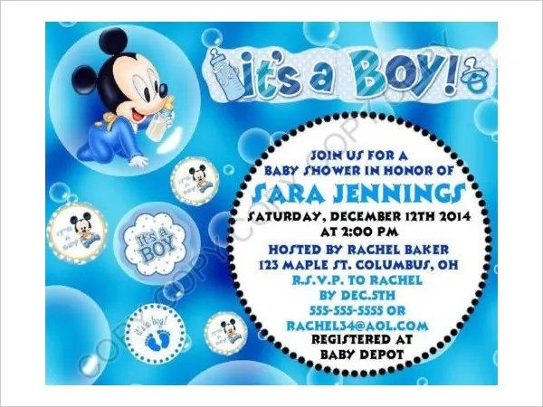 Baby Shower Invitations Nautical