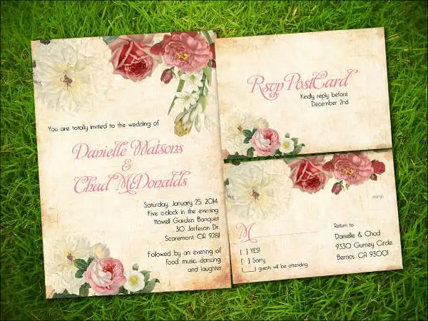Garden Wedding Invitation Templates