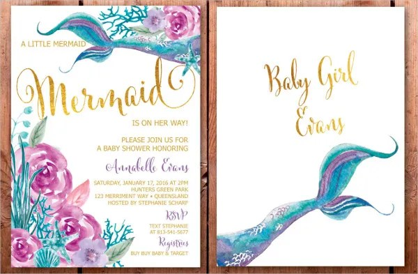 Baby Shower Invitations Layout