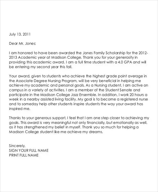 51 Thank You Letter Example Templates