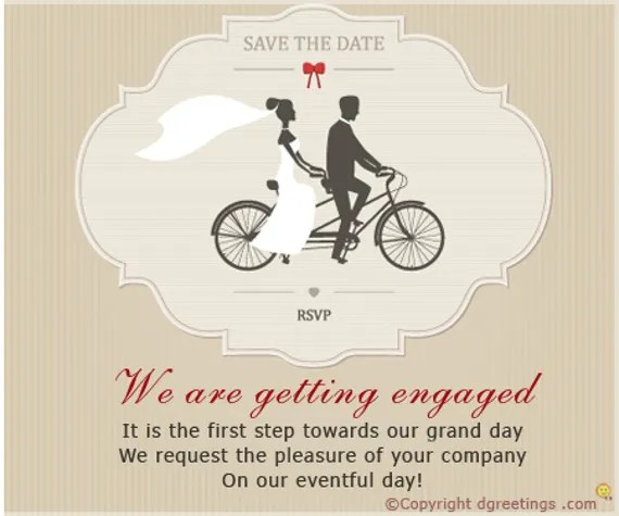 Engagement Invitation Cards – Engagement Card Template