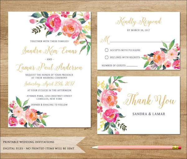 42 Wedding Invitations Templates In PDF Free Premium Templates