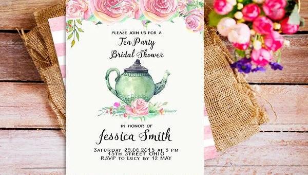53 Printable Bridal Shower Invitation Designs Psd Ai