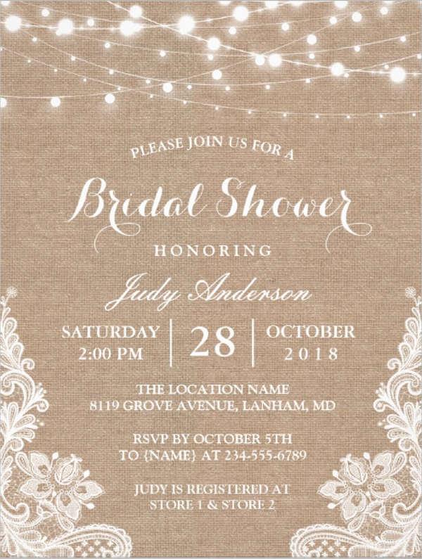 26 Free Bridal Shower Invitations Psd Eps Free