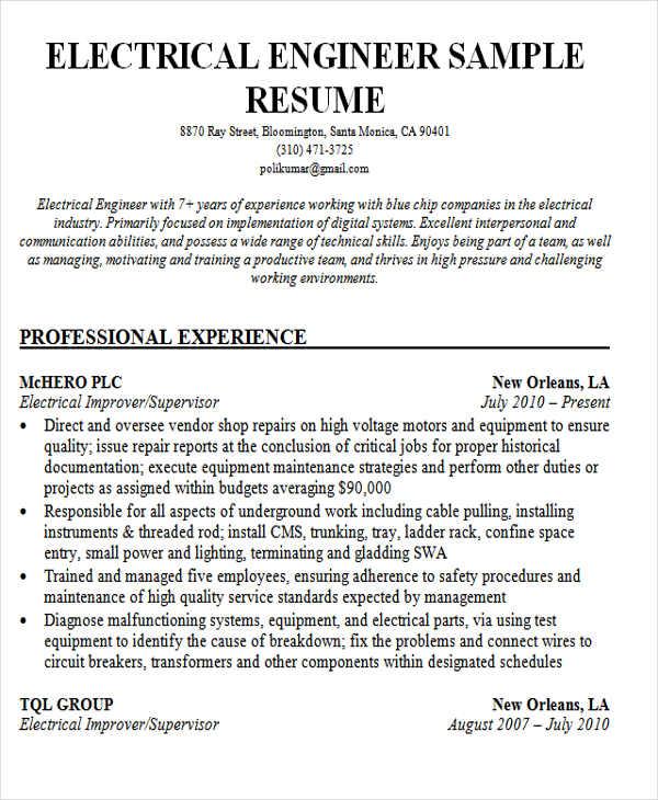 non technical resume format