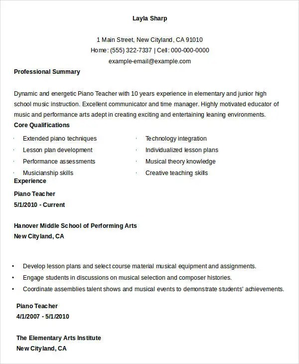 free teacher resume special education teacher resume sample free