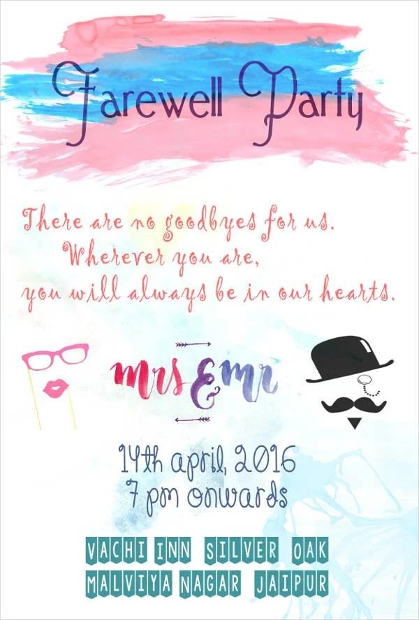 farewell party invitation card : Cogimbo.us
